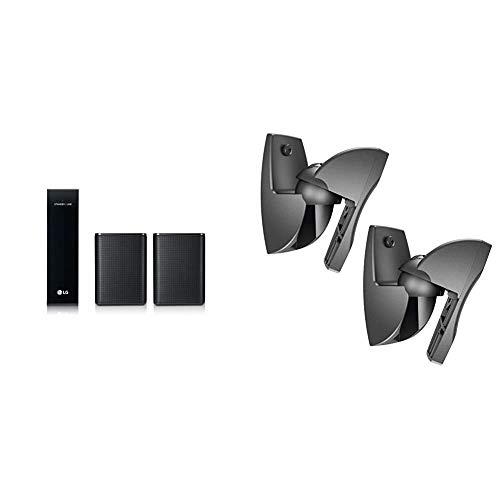 LG Electronics SPK8 Lautsprecher-Systeme Schwarz & Vogel's VLB 500 B Lautsprecher Boxen Wandhalterung Set, schwenkbar, vormontiert, max. 5 kg, schwarz
