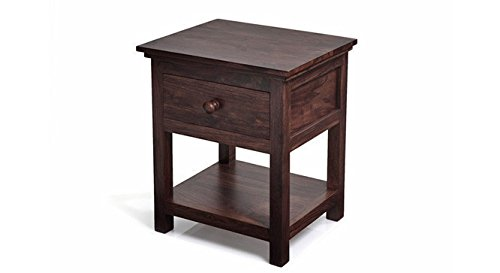 Urban Ladder Snooze Bedside Table (Finish : Mahogany)
