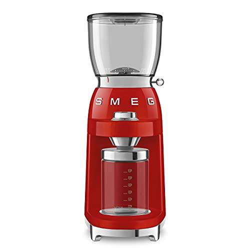 Smeg CGF01RDEU Macinacaffè, Colore: Rosso