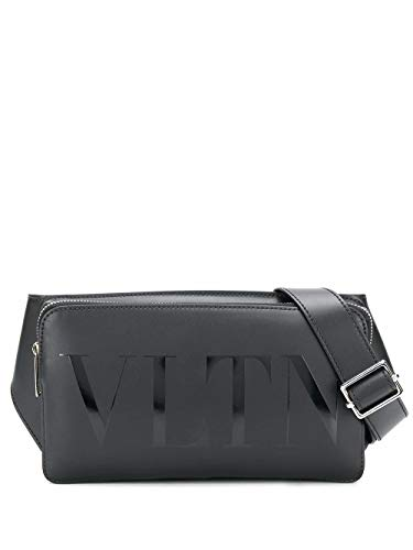 Luxury Fashion | Valentino Garavani Heren TY2B0719GUI0NO Zwart Leer Heuptas | Lente-zomer 20