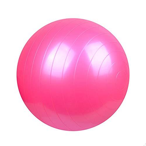 DZLXY Yoga Gymnastikball 45CM, 55CM, 65CM, 75CM für Fitness, Stabilität, Balance & Yoga, Pilates oder Entbindungstherapie Sicherheit - Quick Air Pump inklusive,Pink,55CM