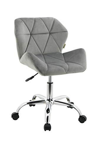 HNNHOME® - Moderna silla de escritorio con diseño Eris - Silla acolchada y giratoria de tela, para