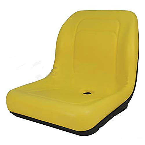 RAPartsinc LVA10029 One New Yellow, High-Back Tractor Seat Made to Fit John Deere Tractor Models 4200 4210 4300 4310 4400 4410