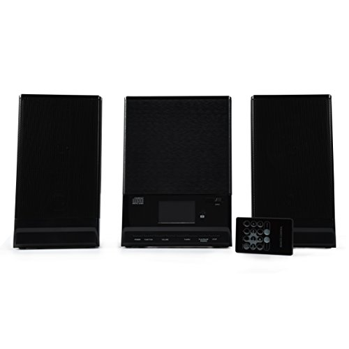 ONN CD Mini Stereo System with Bluetooth Wireless Technology, FM Radio and Remote Control
