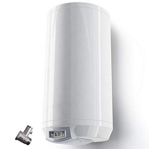 100 L Liter wandhängender Warmwasserspeicher mit digitaler Regelung; druckfest 230 Volt/ 50 Hz inkl. Sicherheitsventil und Wandhalterung