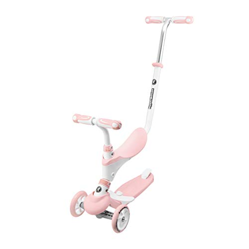 HyperMotion Trottinette Enfant Évolutive Modulable de 1 à 5 Ans 5 en 1 Vélo Draisienne Poussoir Repose-Pieds...