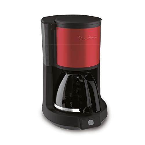 Moulinex fg370d11 autonome semi-automática – Cafetière (autonome, Cafetière Filtre manuel, noir, rouge, pot, boutons, couvercle rabattable)