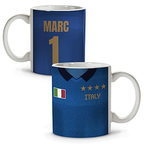 LolaPix Taza Italia. Tazas fútbol. Tazas Personalizadas con Nombre. Taza Desayuno fútbol. Regalos Personalizados. Varios diseños. Italia