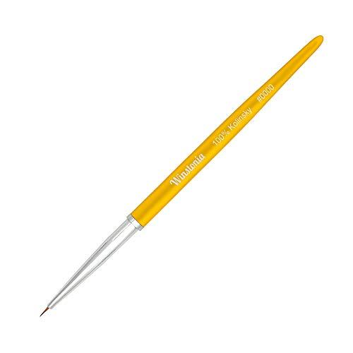 Winstonia Nail Art Tiny Detailer Kolinsky Sable Brush #0000 w/Aluminum Handle and Cap