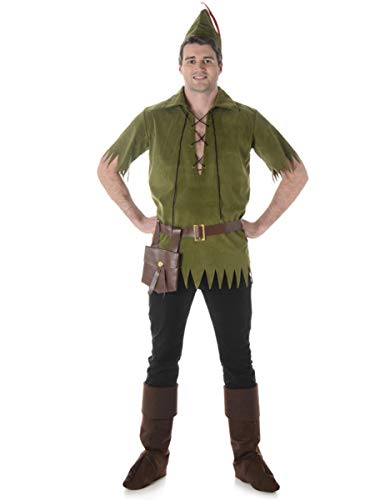 Neverland Lost Boy Mens Fancy Dress Peter Pan Fairytale Book Day Adults Costume