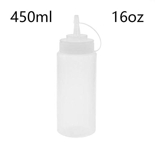 450 ml Knijpfles Kookaccessoires Mosterdazijn Saladesaus Olie-dispenser Ketchup-pot Keukenorganisatorhulpmiddelen