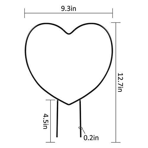 æ— 3 enrejados para plantas en maceta, enrejado en forma de corazón para plantas trepadoras en macetas, soporte de metal para plantas trepadoras de vid.