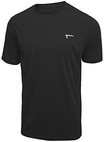 TREN Herren COOL Premium Performance Vent SS Tee Funktionsshirt T-Shirt Kurzarm Schwarz 001 - M