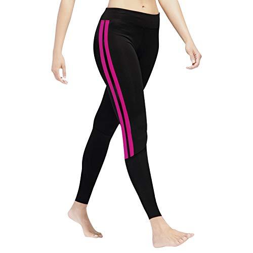 GoVIA Leggins para Damas Pantalones Deportivos Largos para Training Running Yoga Fitness Transpirables con Cintura Alta 4138 Rosa L/XL