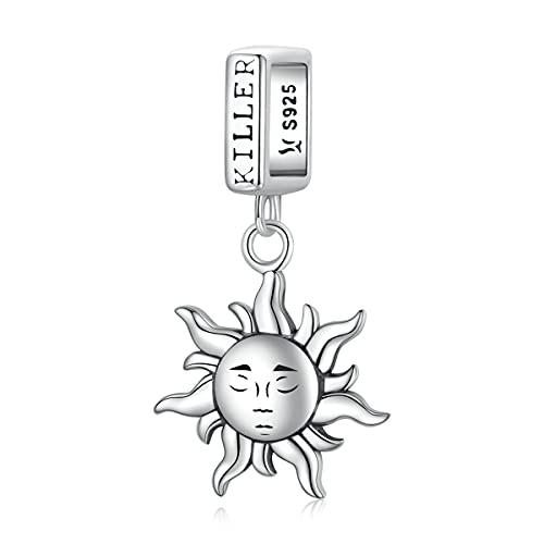 NewL NewL - Colgante de plata de ley 925 con diseño de guardián del sol para pulsera o collar