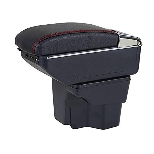 SXYY Caja De Reposabrazos para KIA Rio 3 Caja De Reposabrazos Cenicero Portavasos Consola Central Caja De Almacenamiento con USB Autopartes