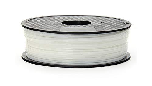 SRY-Holster HH-DYHC, 1pc filamentos de Nylon 1,75 mm 0,03 mm Wimpel C Elección 3D Negro Nylon Color Blanco 3D filamento de Nylon PA 1 Kg 3D filamento (Color : 1.75mm 1KG White)