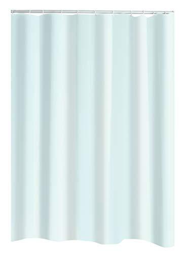 Ridder Uni Folien-Duschvorhang, 100prozent PEVA, weiß, ca. 180x200 cm