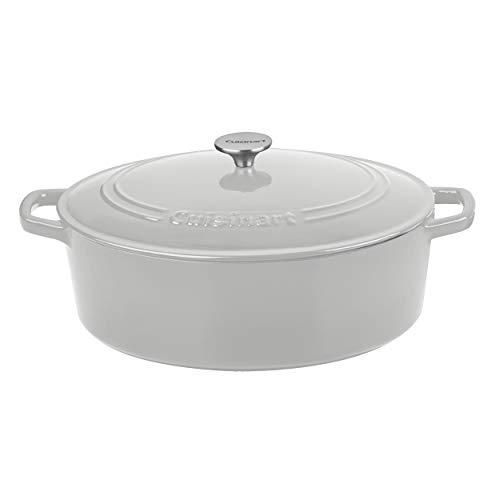 Cuisinart 7 QT Casserole Oval, Cool Grey