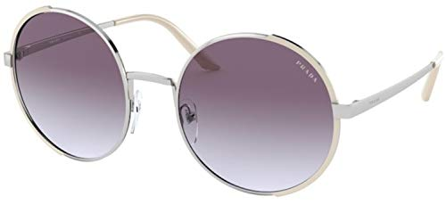 Prada sonnenbrille PR 59XS 08B4W1 Silber viola größe 57 mm Damen
