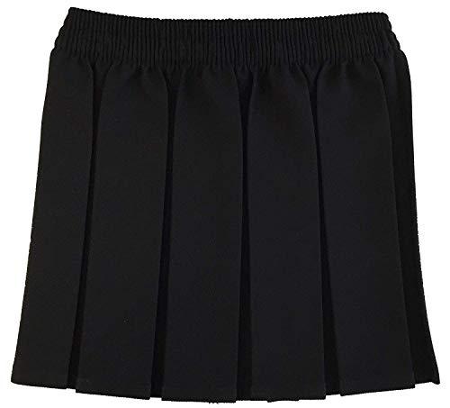 Luxe Diva Elastic Waist Box Pleat Skirt