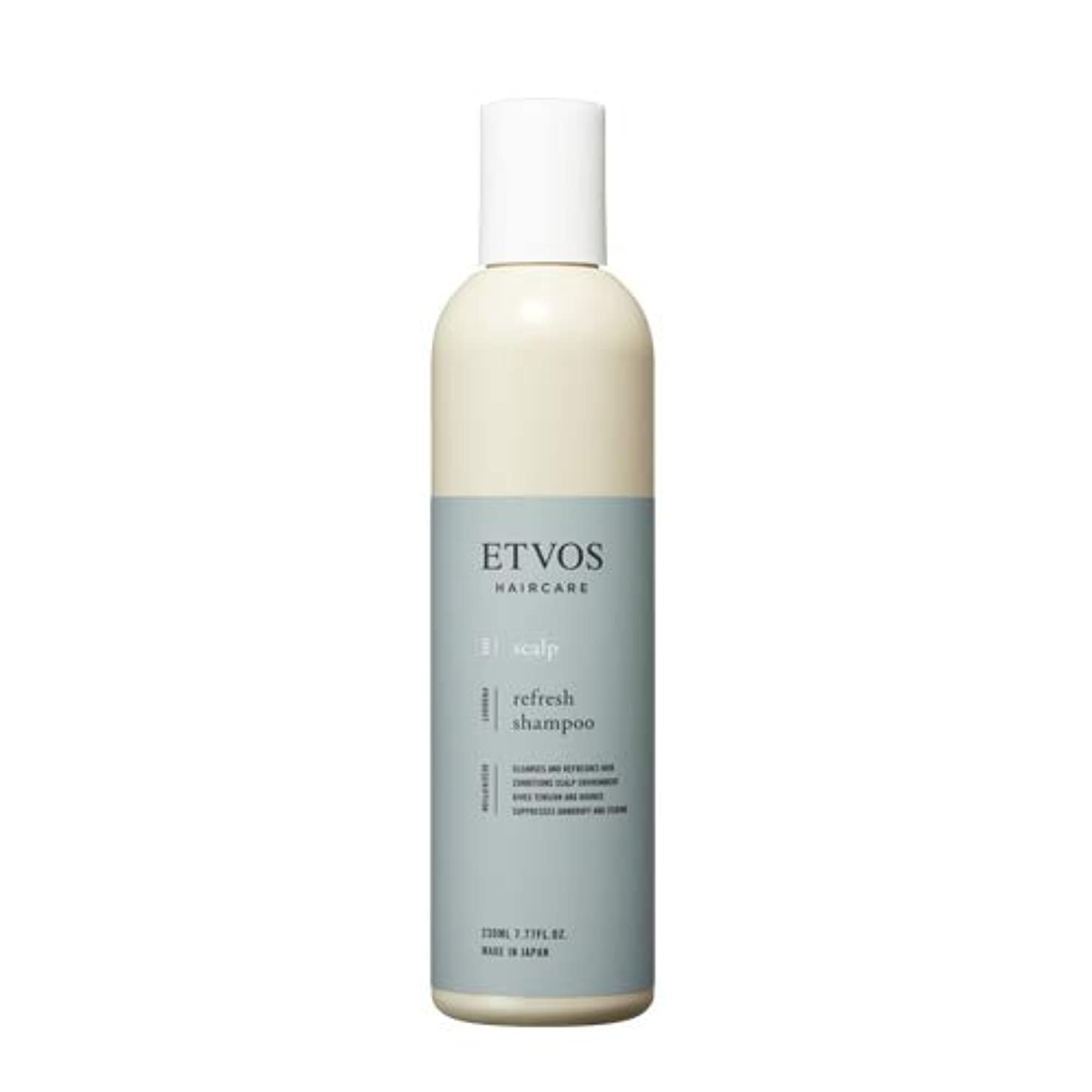共役アークエキスETVOS(エトヴォス) リフレッシュシャンプー 230ml さっぱり ノンシリコン アミノ酸系 頭皮の臭い/ベタつき