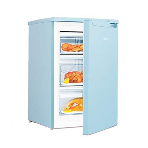 Mini Nevera Silenciosa para Oficina Refrigerador Ajustable para El Hogar Refrigerador Silencioso De Una Sola Puerta 86L De Gran Capacidad (Color : Blue, Size : 56 * 58 * 85cm)