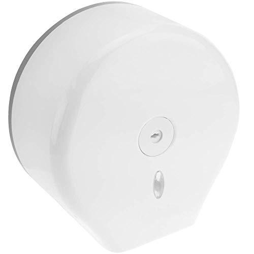 Dispensador de papel industrial, de plastico, antibacteriano ABS, Papel higienico en rollo - solamente para rollos de papel higiénico INDUSTRIAL