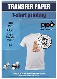 "$49 » PPD Inkjet Iron-On Light T Shirt Transfer Paper LTR 8.5x11"" pack of 100 Sheets (PPD001-100)"