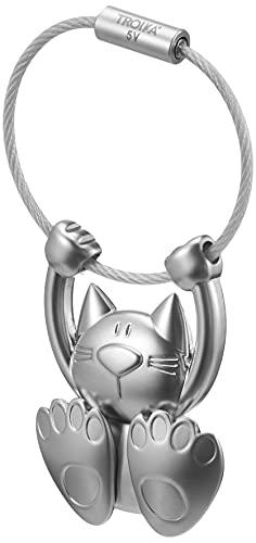 Troika Schlüsselanhänger turnende Katze TABBY