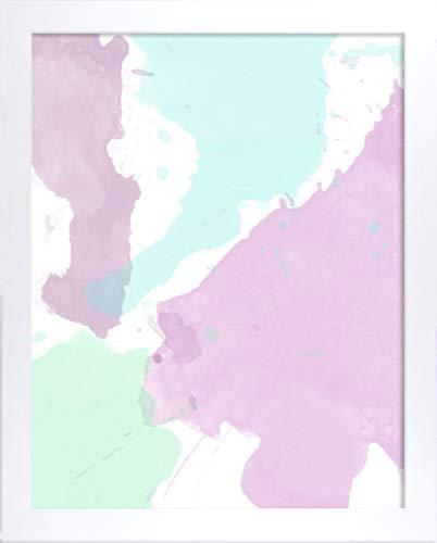 Misano rand fotolijst 19,7x39,4 Inch (50 x 100 cm) met Antireflecterende kunststof glas Perspex 39,4x19,7 Inch fotolijst Getextureerd Wit