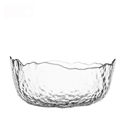 LaiPing Glassalatschale, Haushalt Phnom Penh, Hammermuster Obstteller, Obstschale, Dreiteilig 20cm/Transparent (DREI)