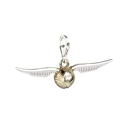 HARRY POTTER - Ciondolo con Clip, Motivo Boccino d'oro, Gioiello su Licenza Ufficiale