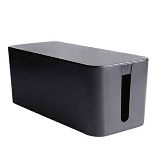 Caja Organizadora de Cables Cable de alimentación Almacenamiento Bo Arrastre Cable Organizador Cargador Línea de datos Caja de clasificación Organizar Cables ( Color : Black , Size : 31X13X12.5cm )