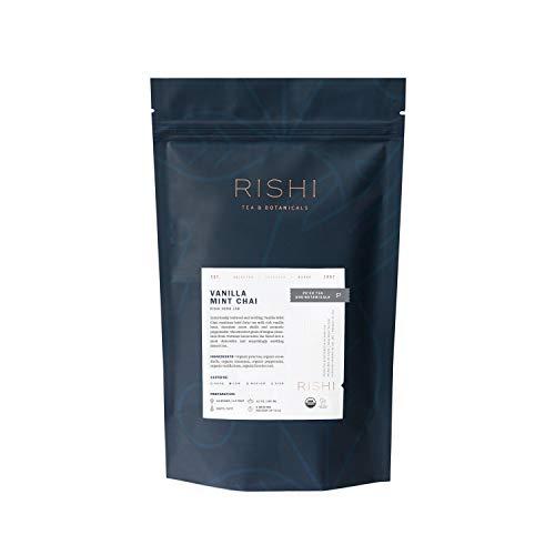 Rishi Tea Vanilla Mint Chai Pu'er Herbal Tea Blend   Immune & Heart Support, Organic, Digestion Relief, Nutrient Dense, Caffeinated   1 lb Bag, Makes 50 Cups