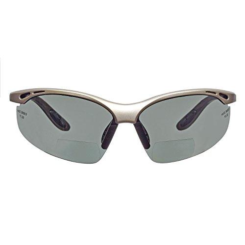 voltX 'Constructor' POLARIZADO Gafas de Seguridad de Lectura bifocales, Certificado CE EN166F / Gafas de Ciclismo (dioptría +1.5) – Polarised Safety Reading Glasses