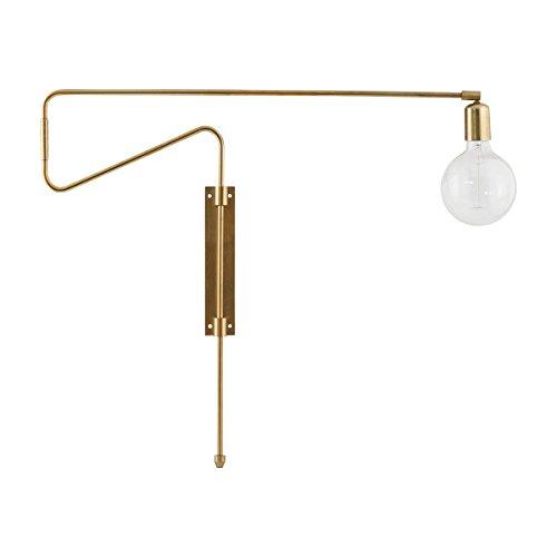 House Doctor Lámpara de pared Swing, dorado, 70 x 5.5 cm