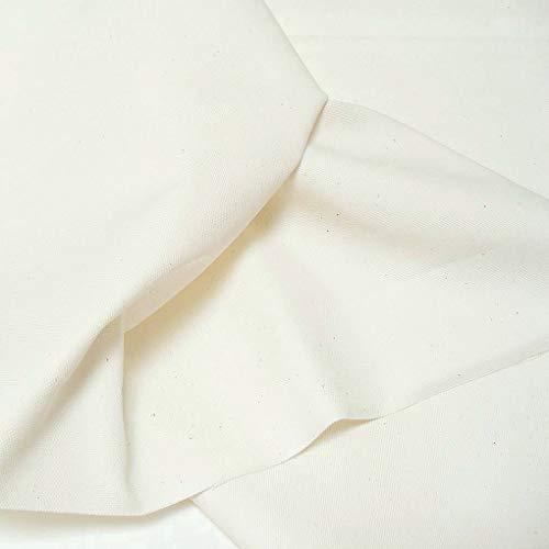 TOLKO Baumwollstoffe | Canvas Segeltuch Stoff als Bezugstoff/Möbelstoff und Modestoff zum Nähen Polstern Beziehen | Mittelschwer, Stabil, Reißfest | Polsterbezug Meterware 145cm breit (Creme)