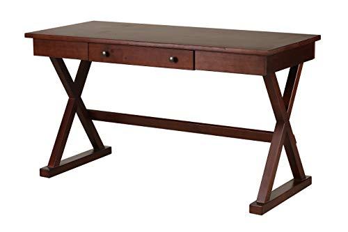 Amazon Brand – Stone & Beam Classic Home Office Desk with Drawer, 54'W, Dark Espresso
