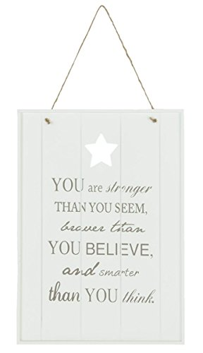 Clayre & Eef 6h0832 Insegna testo you are stronger than you seem... ca. 25 x 35 cm