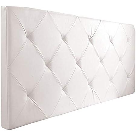 Probache - Tête de lit capitonnée EVA PVC Blanc pour lit 140 et 160 cm