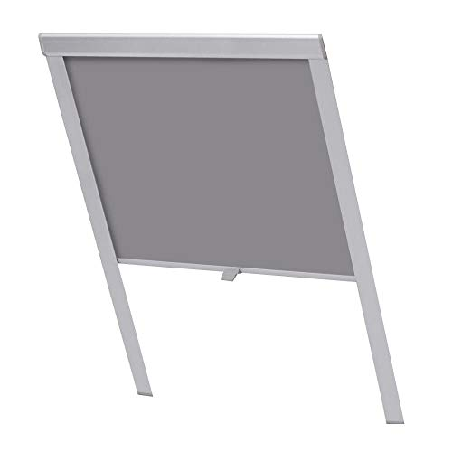 HENGMEI Verdunkelungsrollo für Dachfenster in GrauThermo Sonnenschutz für Velux Fenstersysteme Dachfenster Verschiedene Größen Fenstertypen : GGL, GPL, GHL, GTL, GXL (206)