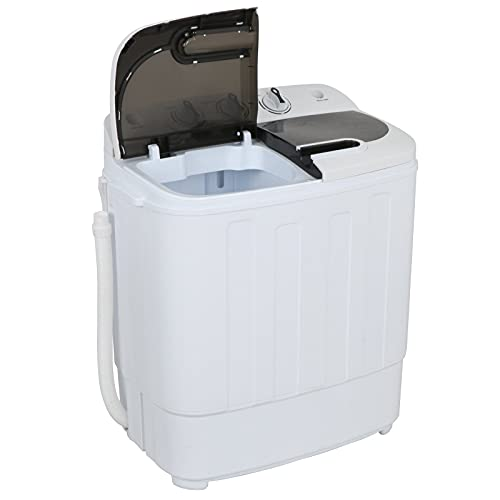 ZENY Portable Mini Twin Tub Washing Machine 13lbs Capacity with Spin Dryer,Compact Cloths Washing Machine Lightweight Small Laundry Washer for...