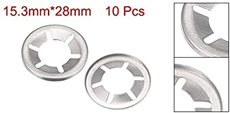 40Qty Color : M12 CHENHAN Lock Washer 10-40pcs M10 M12 M14 M16 Internal Tooth Starlock Washer Lock Washers Push On Locking Speed Clip 304 Stainless Steel