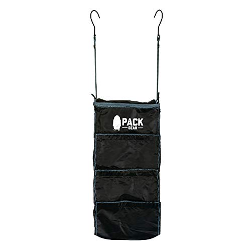 Pack Gear Suitcase Organizer - Pack More in Your Suitcase Or Carry-On with These Hanging Packing Cubes for Travel - Unpack Instantly by Hanging This Black Luggage Shelf Organizer in The Closet