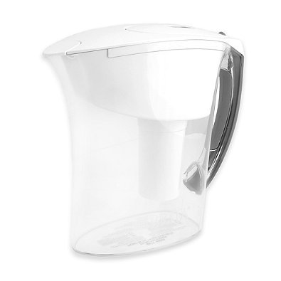 Brita 6-Cup Amalfi Pitcher up to 40 gallons of water (White)