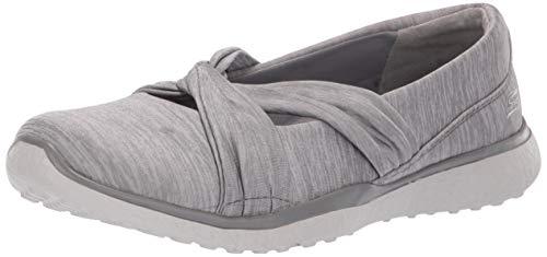 Skechers Microburst-Knot Concerned, Merceditas para Mujer, Gris (Grey Gry), 39 EU