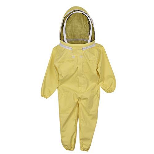 Ettzlo Bienenanzug, professioneller Imkeranzug, Imker, Imkereianzug, Jacke, Pullover, Imkerschleier Kittel Imkeranzug Mantel Jackenausrüstung mit Hut für Kind
