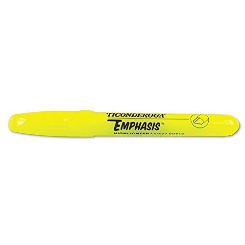 Emphasis™ Highlighters, Desk Style, Chisel Tip, Yellow, Pack of 12
