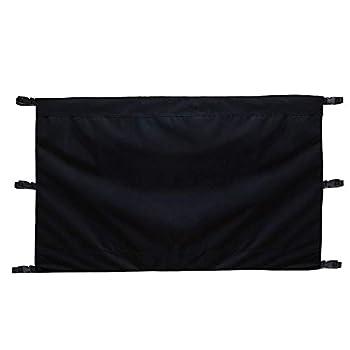 Unknow Barrière pour bébé et Animal de Compagnie pour Rampe de barrière de sécurité rétractable, Tailles Larges et régulières, Noir